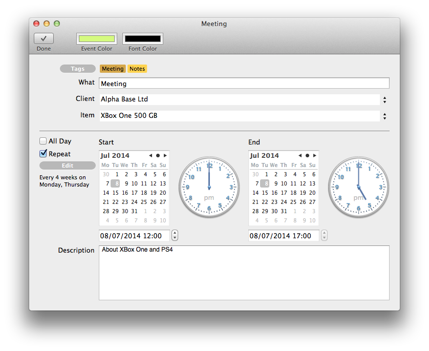 BillSonar Invoice Mac OS X To-do